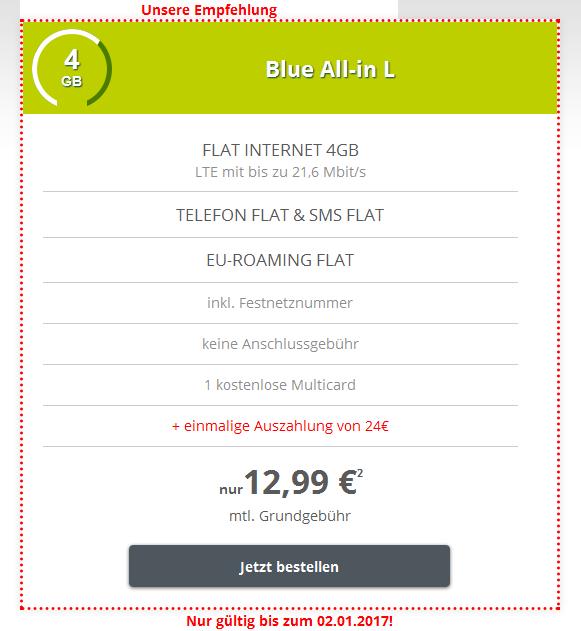 Günstige Telefonie- und SMS-Flat inkl. EU-Romaing-Flat, Festnetznummer und MultiCard
