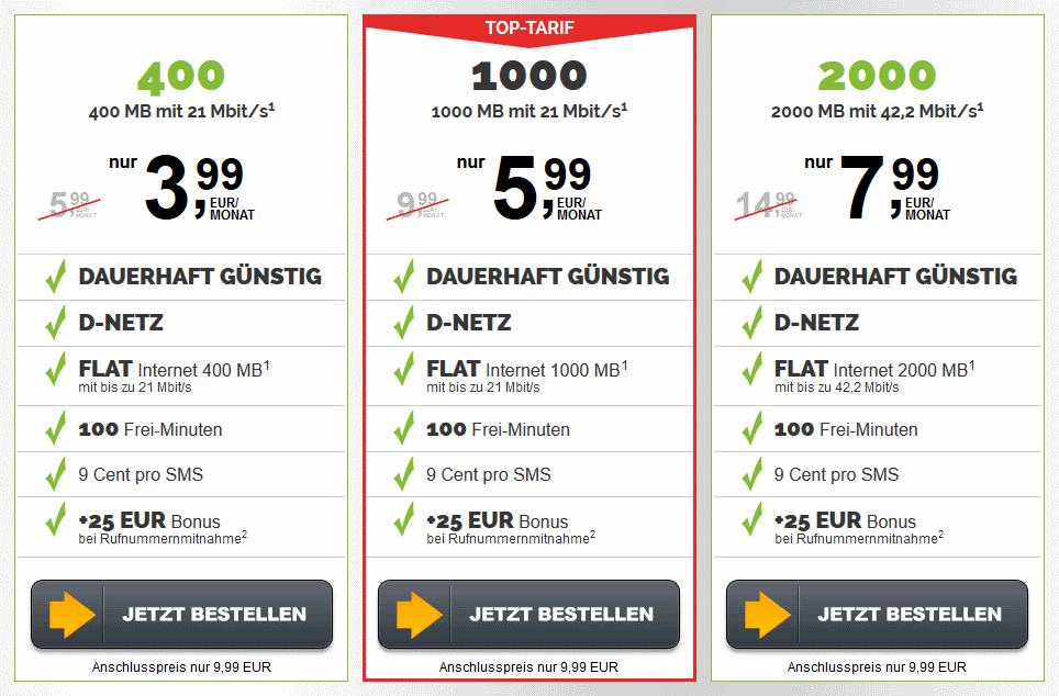 Handytarif Vergleich D-Netz