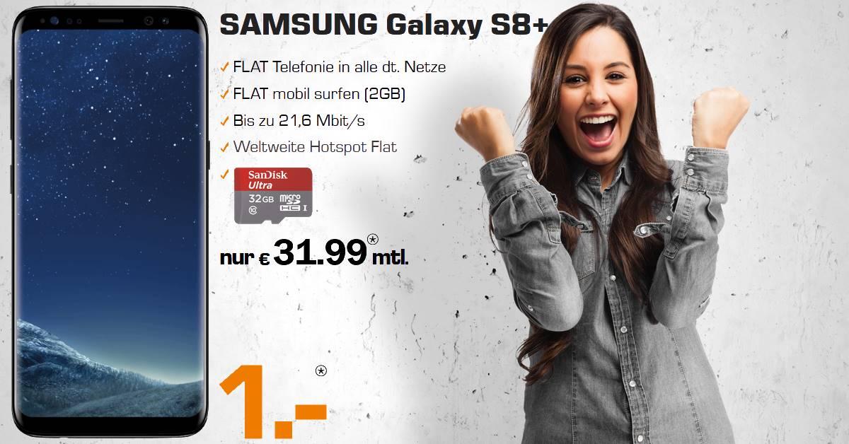 Handyvertrag mit Galaxy S8 Plus