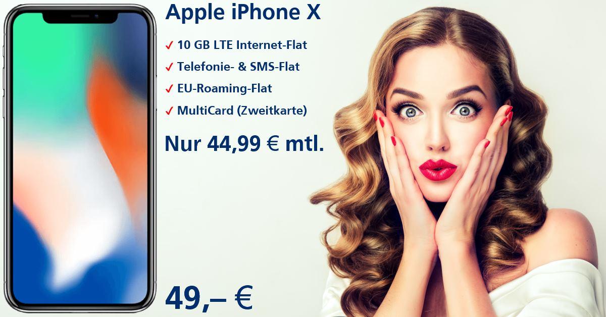 Handy-Tarifvergleich - iPhone X mit Handyvertrag