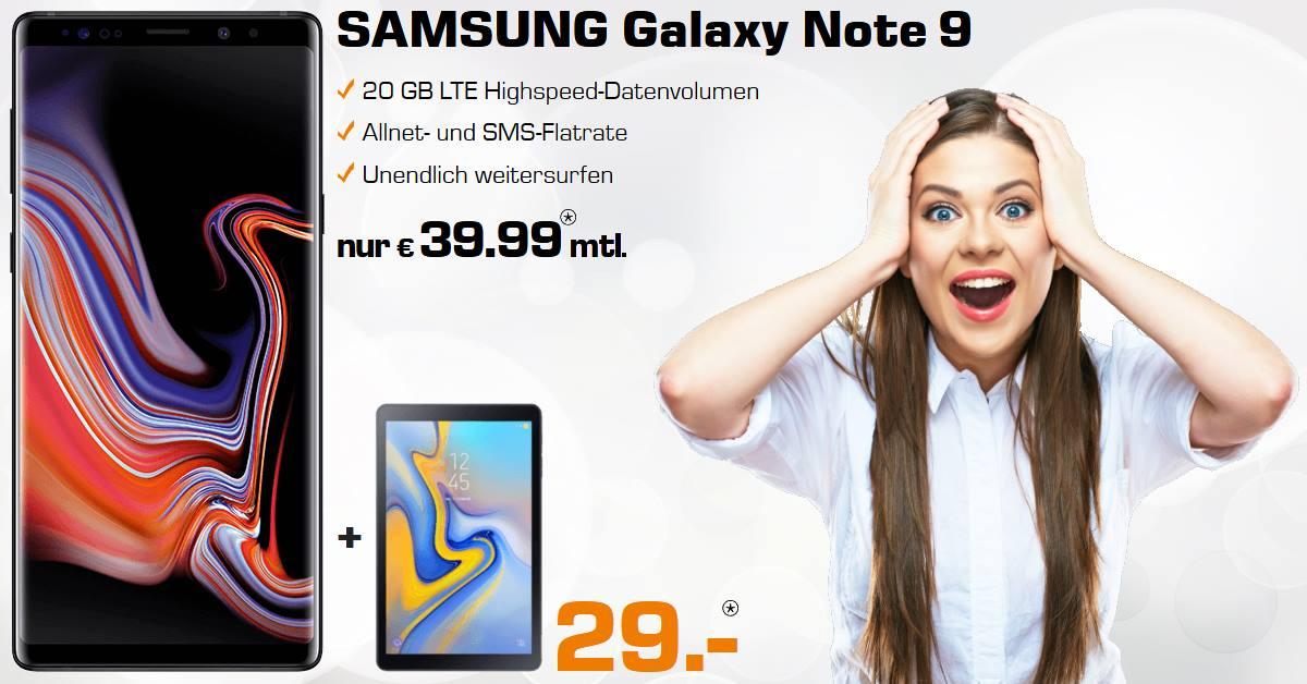 Handy-Tarifvergleich Galaxy Note 9 Handyvertrag inkl. Galaxy Tab A