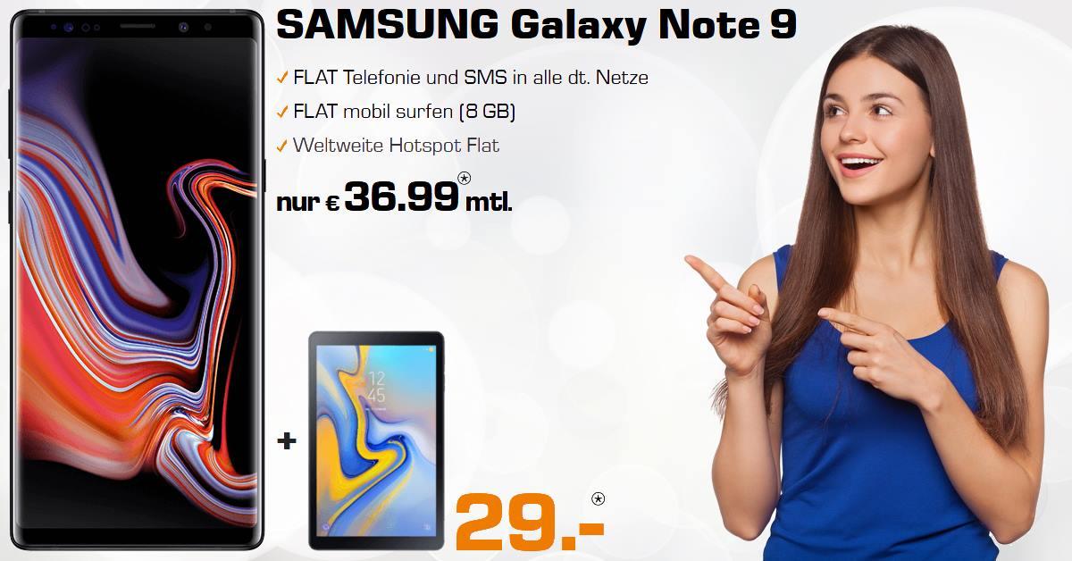 Handy-Tarifvergleich Galaxy Note 9 inkl. Galaxy Tab A Handyvertrag