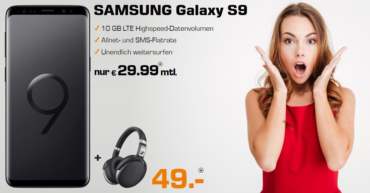 Tarifvergleich Handy - Galaxy S9 mit Sennheiser HD 4.50 und 10 GB LTE Allnet-Flat