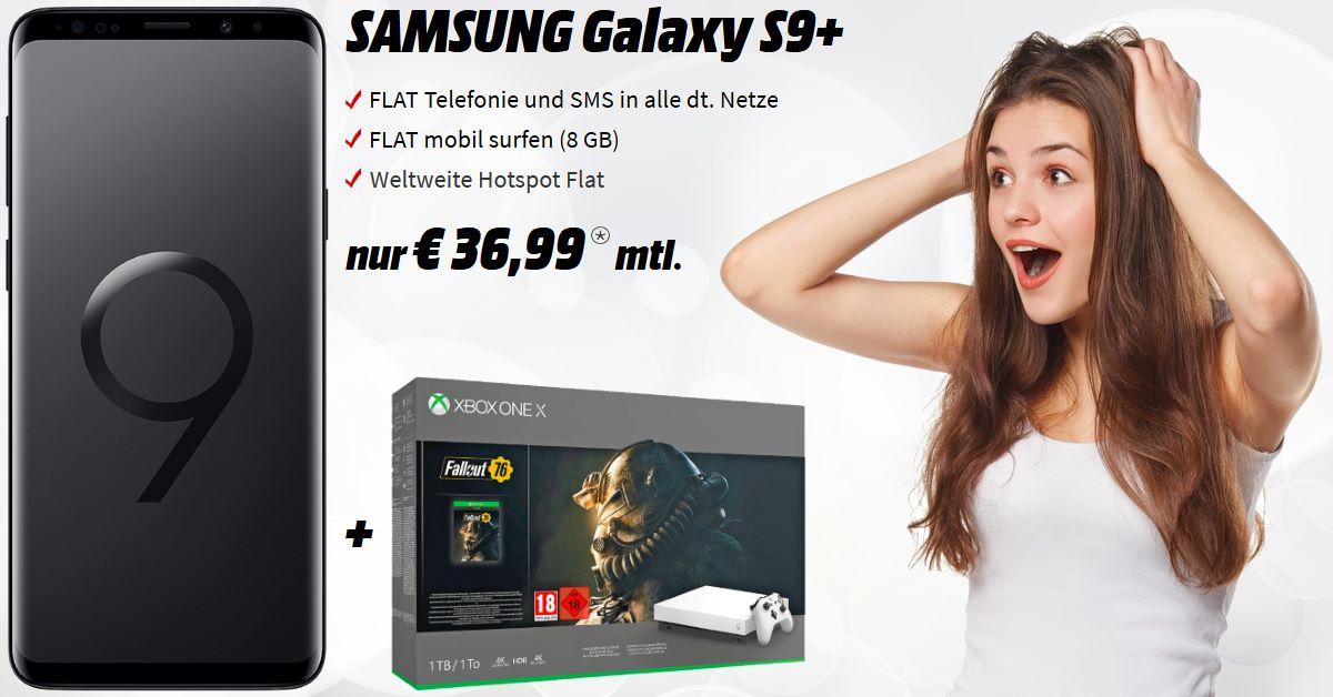 Galaxy S9 Plus mit Xbox One X Bundle und 8 GB Allnet-Flat