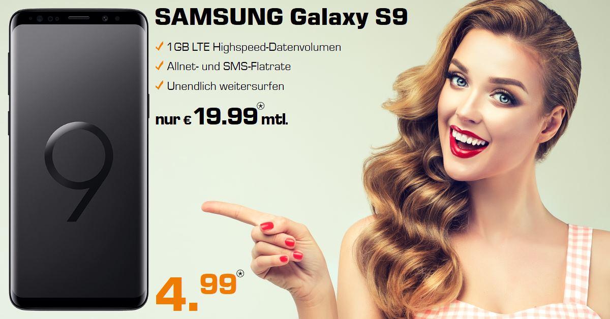 Galaxy S9 mit o2 Free S Handyvertrag zum Bestpreis