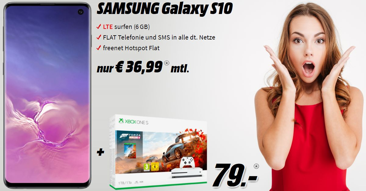 Galaxy S10 Handyvertrag mit Xbox One S-Bundle
