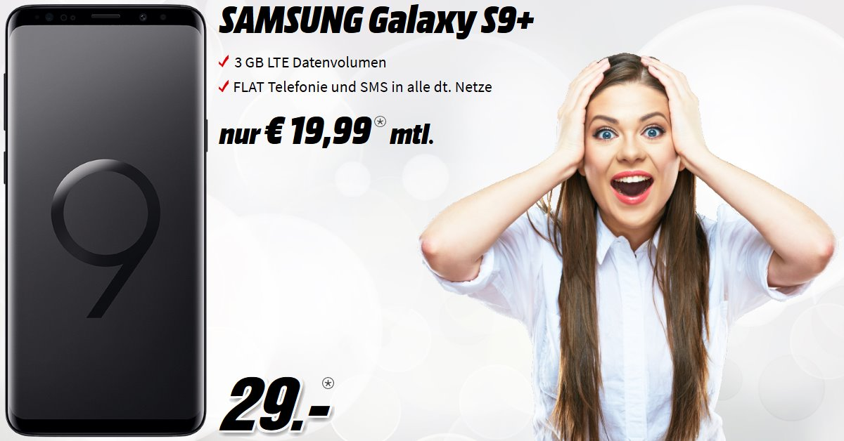 Galaxy S9 Plus mit 3 GB LTE Allnet-Flat