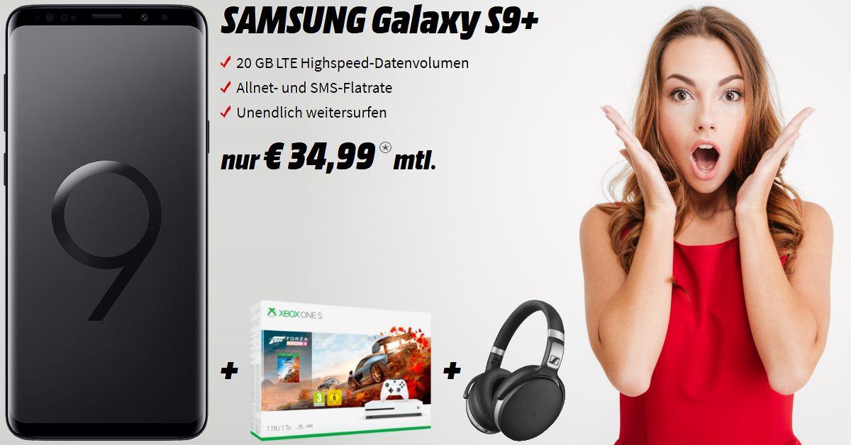 Galaxy S9 Plus mit Xbox One S Bundle, Sennheiser HD und 20 GB LTE Allnet-Flat