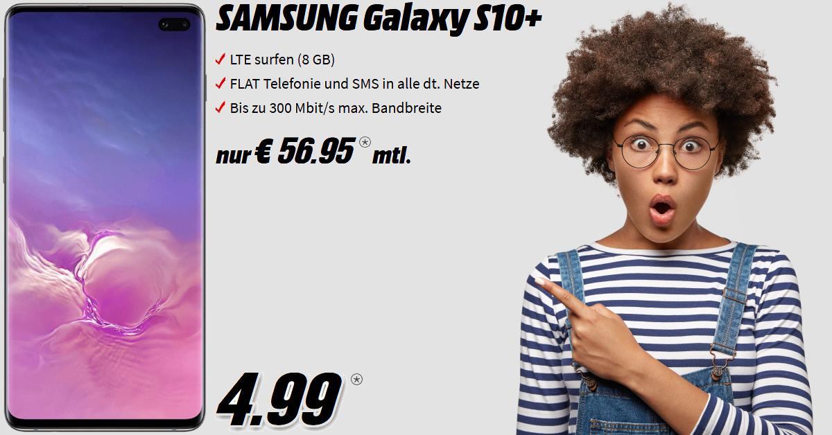 Galaxy S10 Plus inkl. 8 GB LTE Allnet-Flat im besten D-Netz