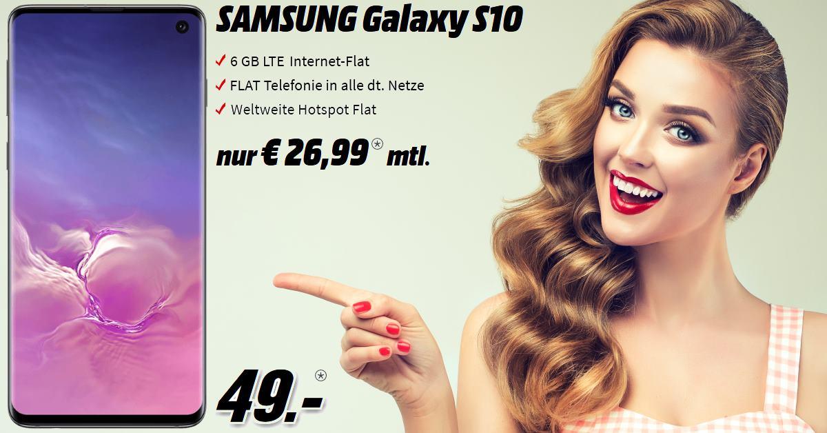 Handy-Tarifvergleich - Galaxy S10 mit 6 GB LTE Allnet-Flat