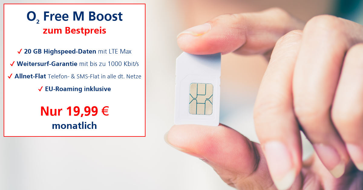 Handy-Tarifvergleich o2 Free M Boost zum Bestpreis