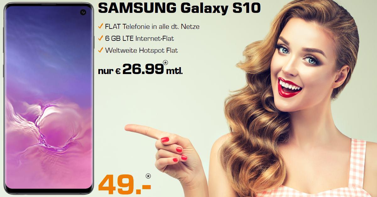 Handytarifvergleich - Galaxy S10 mit 6 GB LTE Allnet-Flat