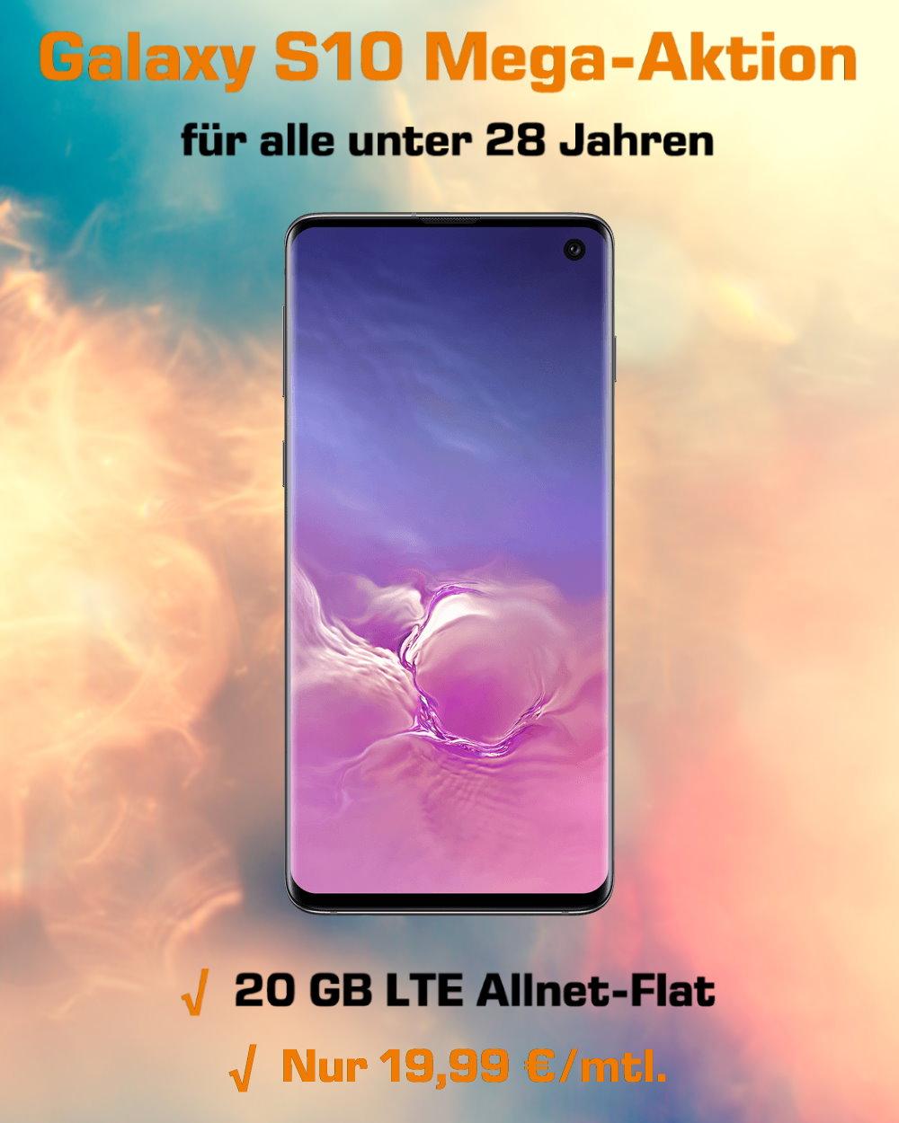 Galaxy S10 inklusive 20 GB LTE Allnet-Flat zum absoluten Tiefstpreis