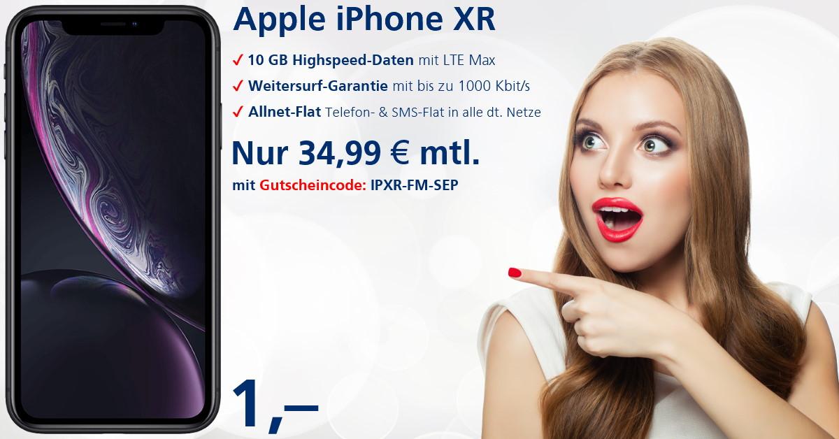 iPhone XR mit o2 Free M zum absoluten Bestpreis - Handy-Tarifvergleich