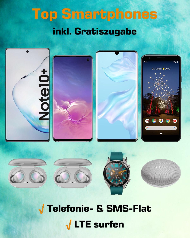 Top-Smartphones inkl. Gratiszugabe zum absoluten Bestpreis