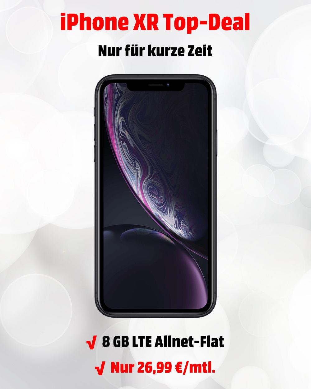 iPhone XR mit 8 GB LTE Allnet-Flat zum absoluten Tiefstpreis