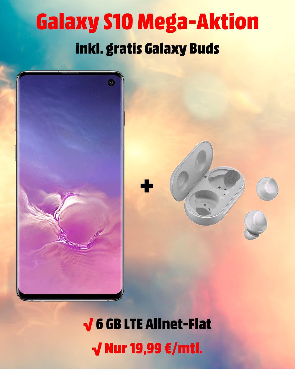 Galaxy S10 inkl. Galaxy Buds und 6 GB LTE Allnet-Flat zum absoluten Bestpreis