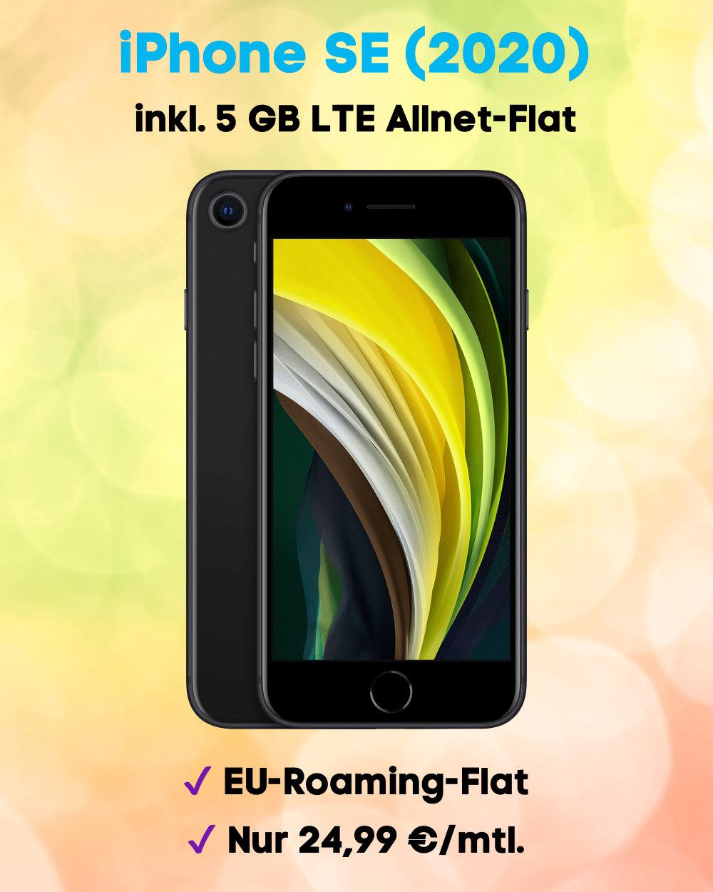 iPhone SE 2020 inkl. 5 GB LTE Allnet-Flat Handytarif