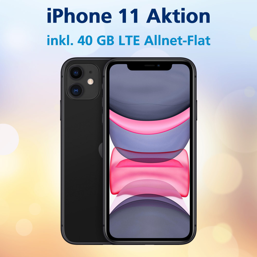iPhone 11 Handyvertrag inkl. 40 GB LTE Allnet-Flat zum Bestpreis