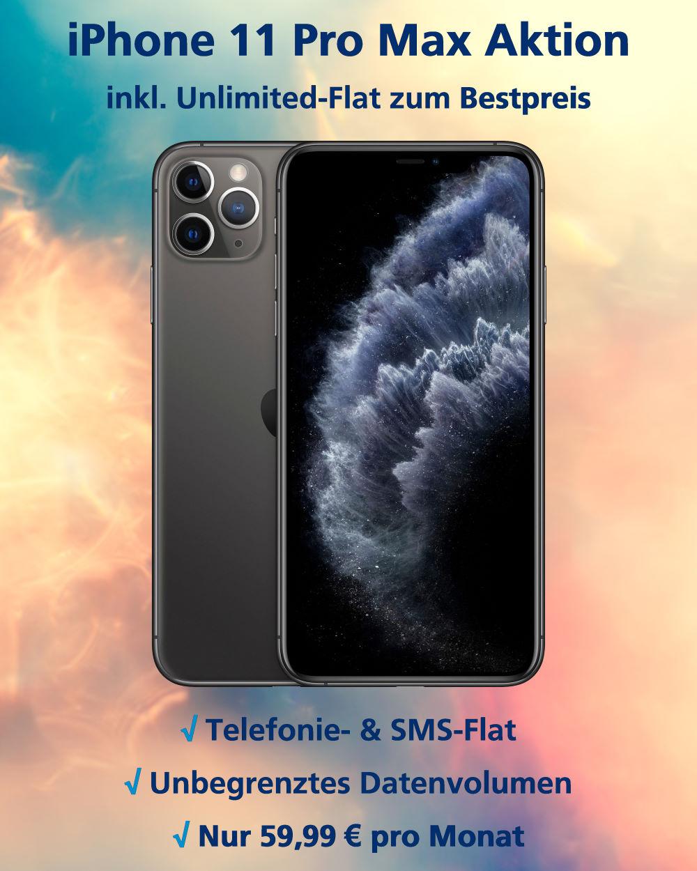 iPhone 11 Pro Max mit Unlimited-Flat zum absoluten Bestpreis