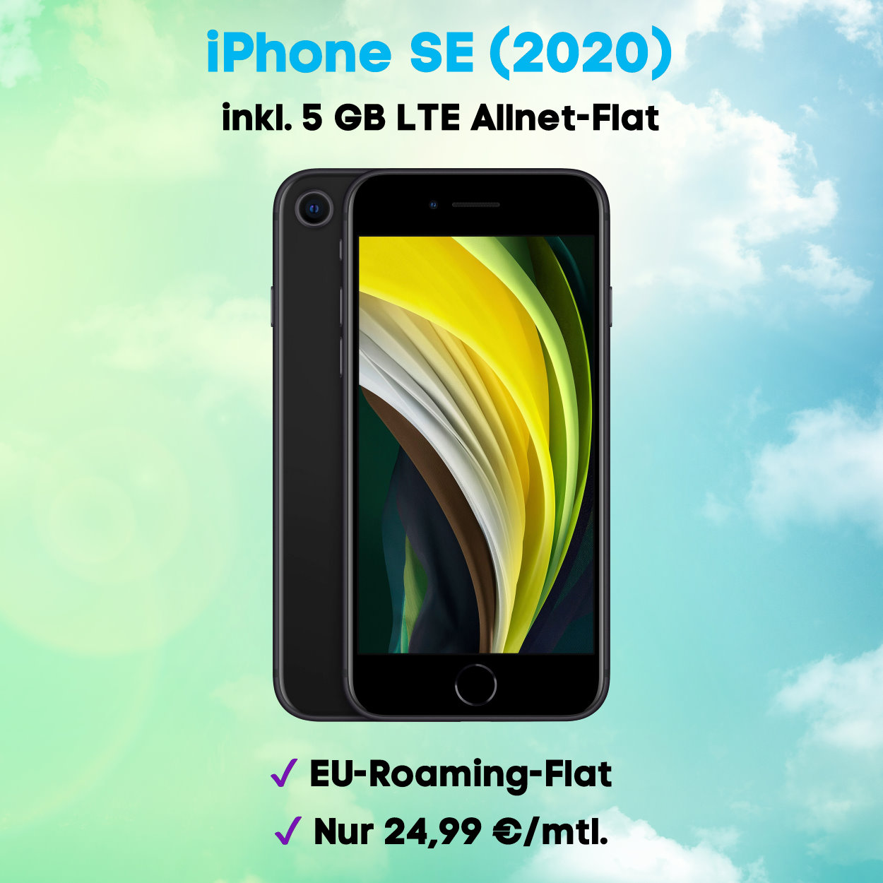 iPhone SE 2020 Handyvertrag inkl. 5 GB LTE Allnet-Flat