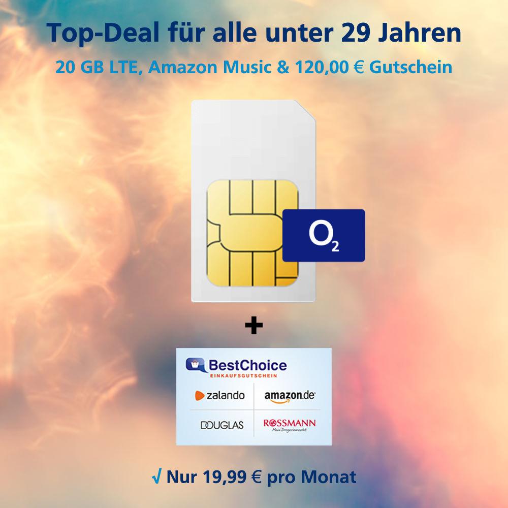 20 GB LTE Allnet-Flat inkl. 120 Euro Gutschein und Amazon Music Unlimited