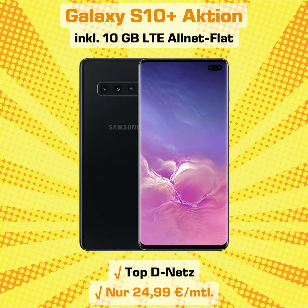 Galaxy S10+ Handyvertrag inkl. 10 GB LTE Allnet-Flat zum absoluten Bestpreis