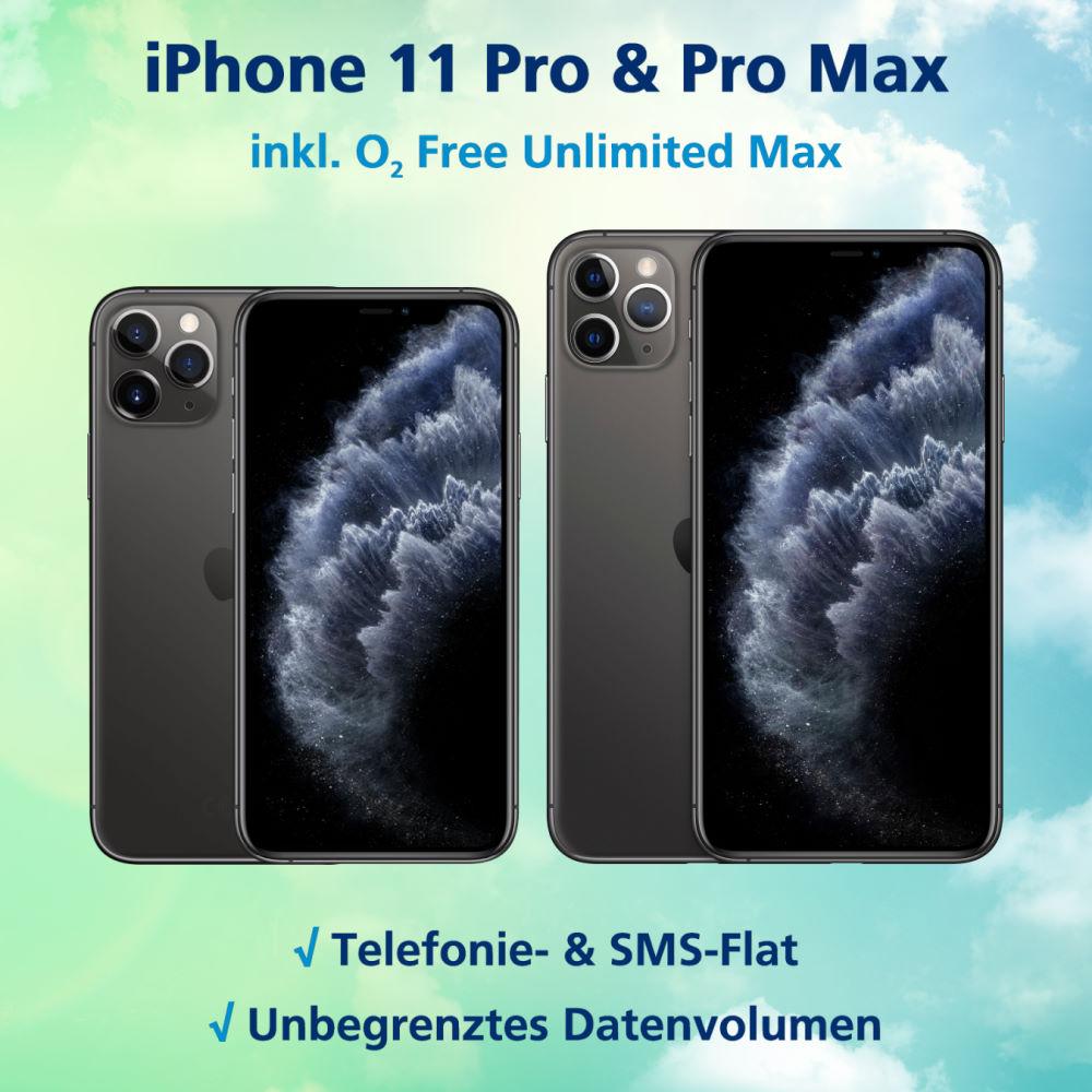 iPhone 11 Pro und iPhone 11 Pro Max Aktion inkl. unlimitierter LTE Allnet-Flat
