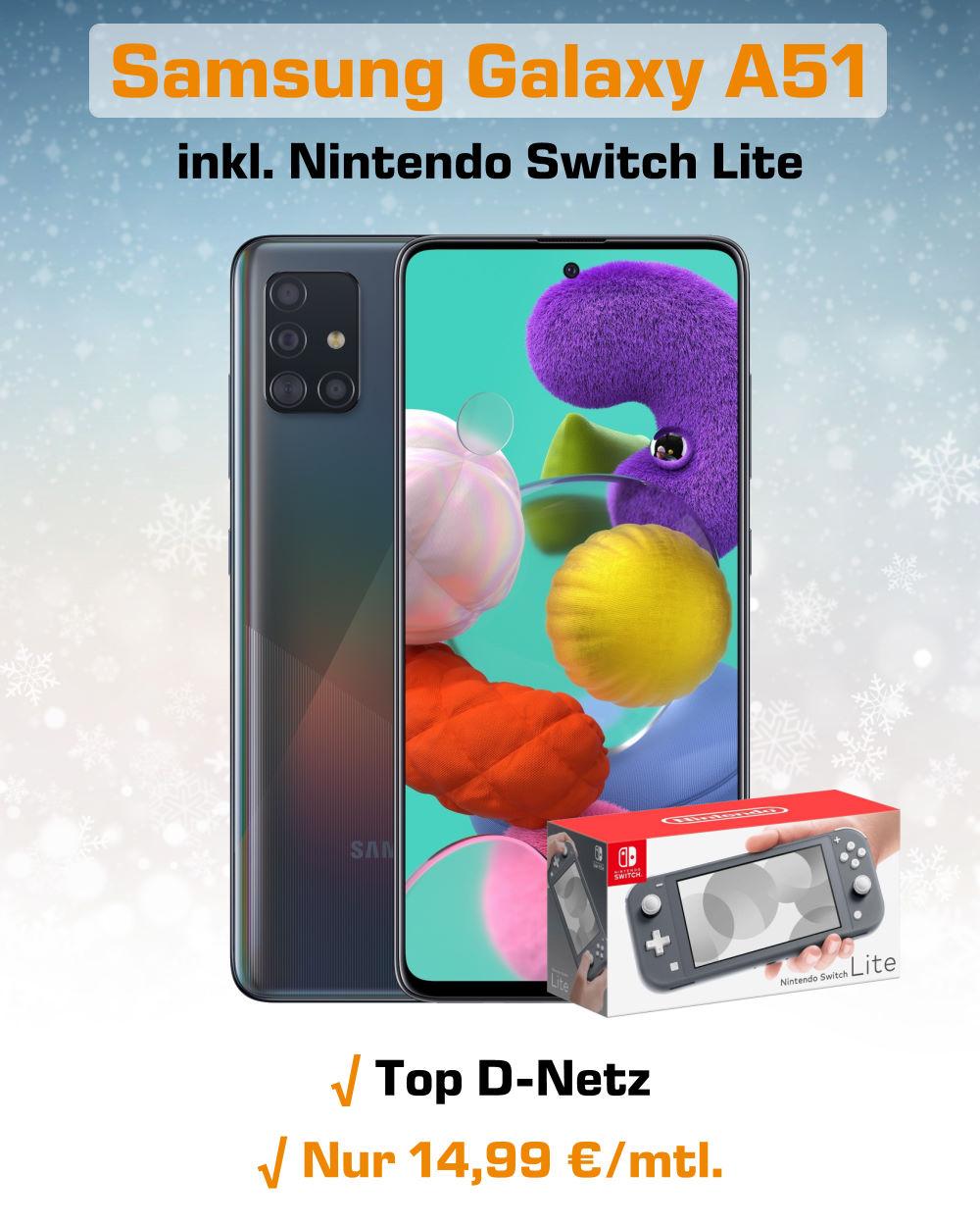 Galaxy A51 inkl. Switch Lite und 3 GB LTE Allnet-Flat - Handytarifvergleich