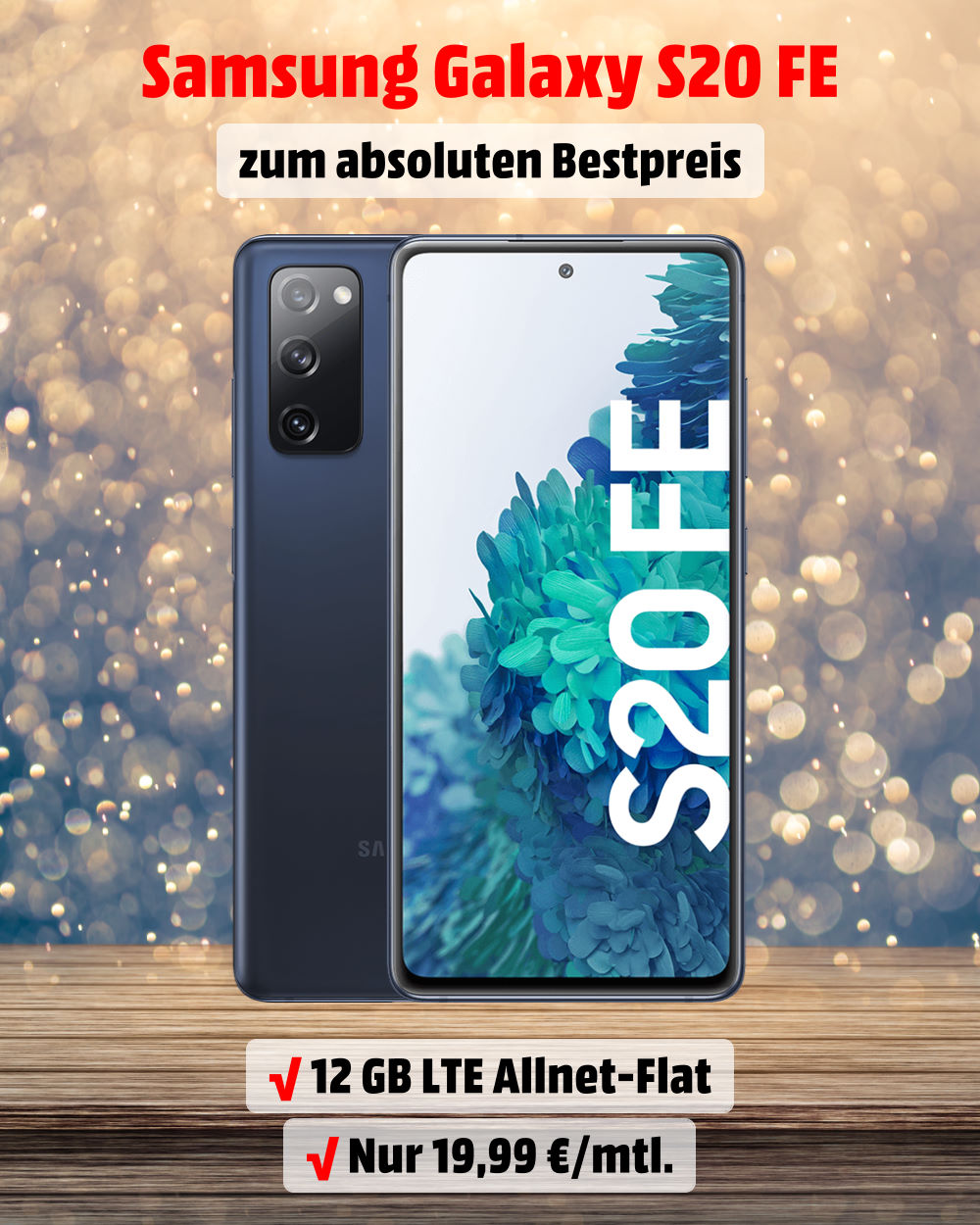 Galaxy S20 FE inkl. 12 GB LTE Allnet-Flat zum absoluten Bestpreis - Handy-Tarifvergleich
