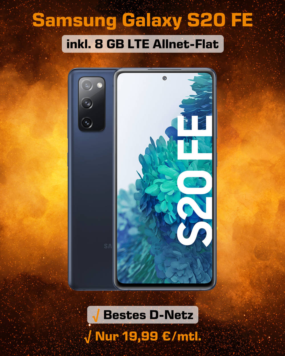 Galaxy S20 FE inkl. 8 GB LTE Allnet-Flat zum absoluten Bestpreis