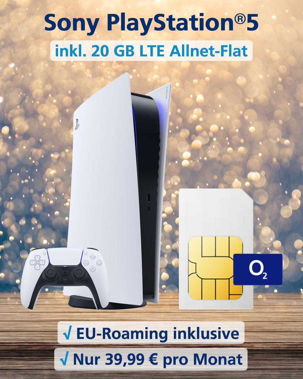 Handy Tarifvergleich - Playstation®5 mit 20 GB LTE Allnet-Flat zum Top-Preis