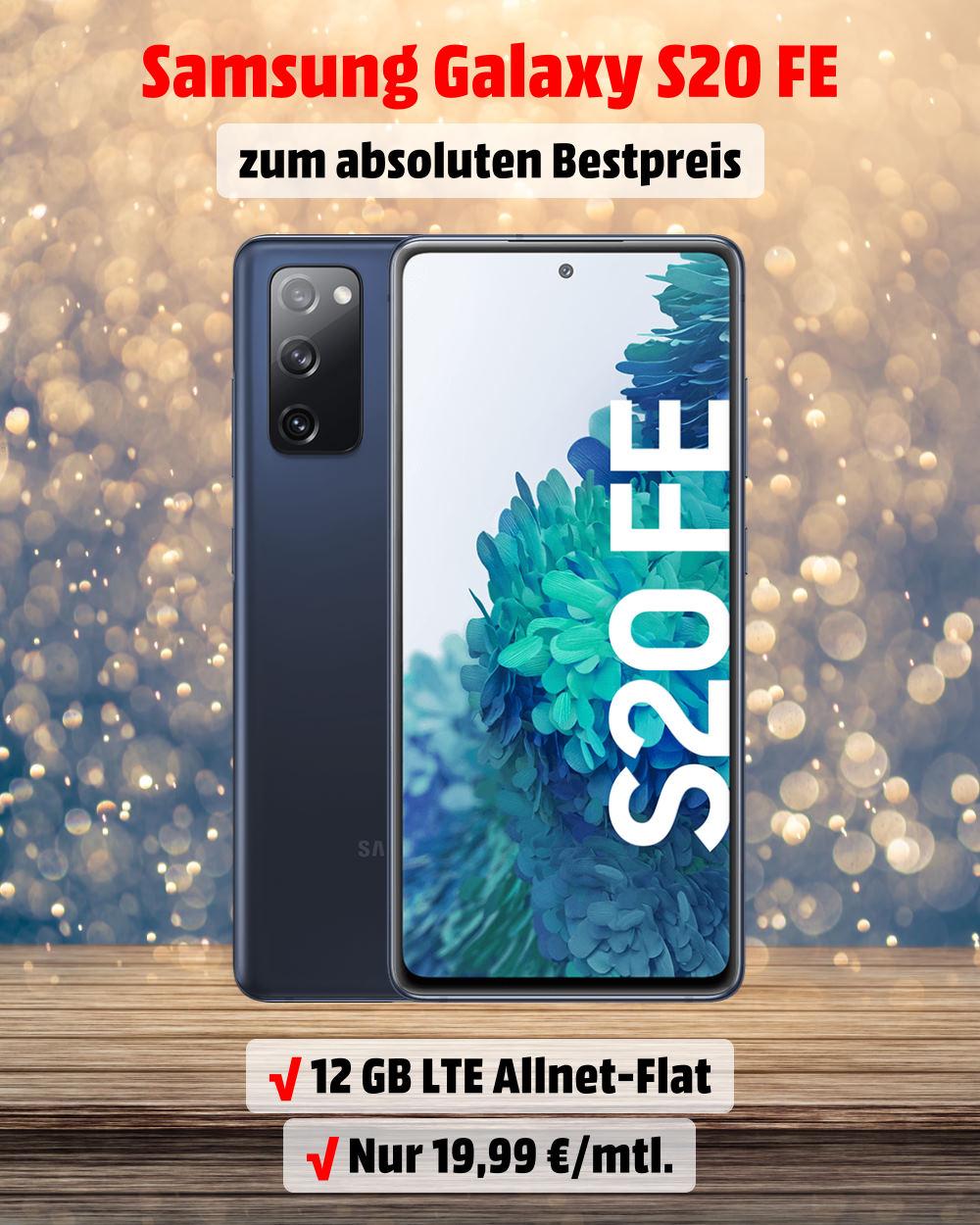 Galaxy S20 FE inklusive 12 GB LTE Allnet-Flat zum Bestpreis - Handy-Tarifvergleich