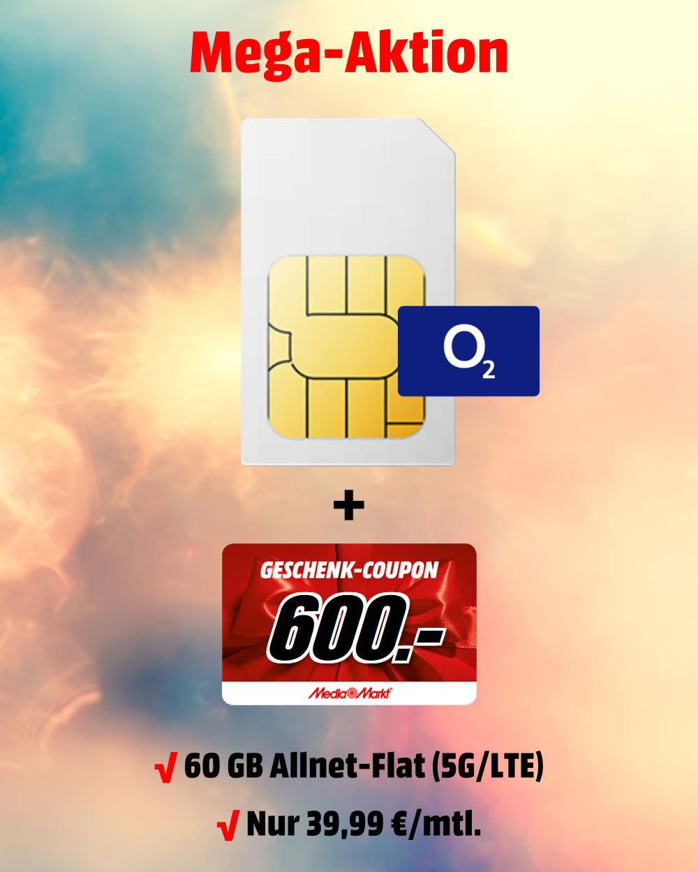 60 GB 5G-LTE Allnet-Flat mit 600 € MediaMarkt-Coupon zum absoluten Bestpreis