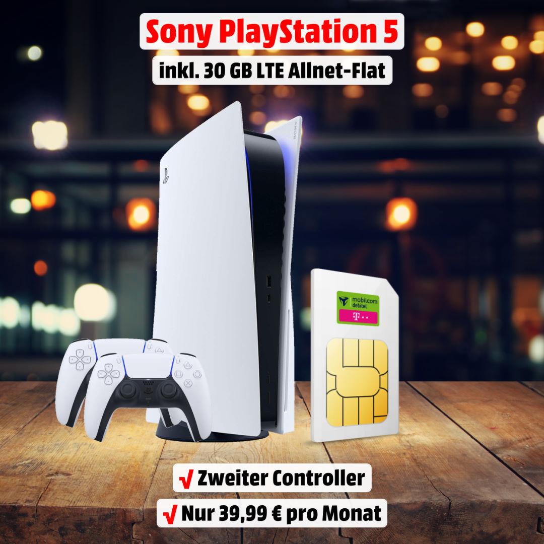 Playstation 5 inkl. zweitem Controller und 30 GB LTE Allnet-Flat zum absoluten Bestpreis