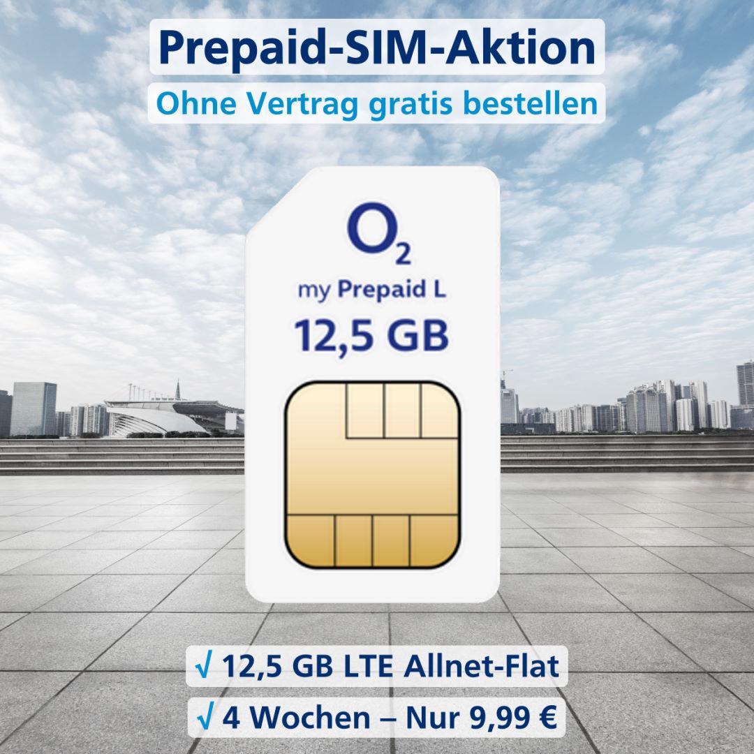 o2 Prepaid L SIM-Karte kostenlos bestellen